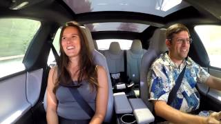 Tesla P85D acceleration and auto-steer reactions