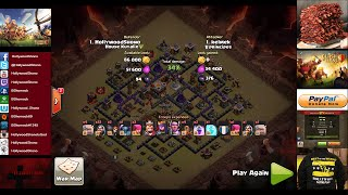 Clash of Clans - Town Hall 11 Eagle Artillery and Grand Warden in Clan Wars