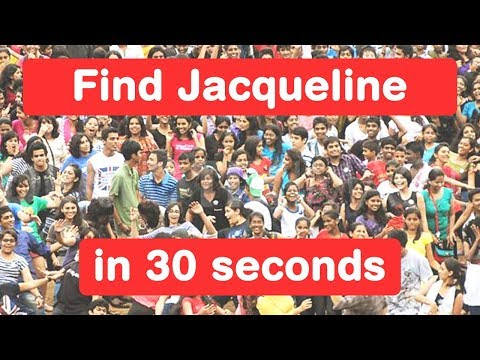 Find Jacqueline Fernandez in 30 seconds - Judwaa 2 Challenge