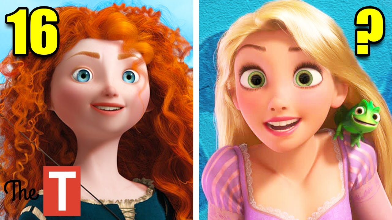 Disney Princesses Real Ages And Origins - YouTube