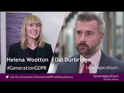 How to implement GDPR in your school - hear from Dai Durbridge and Helena Wootton