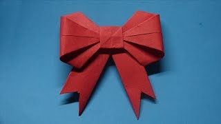 Origami - How to make a paper Bow/Ribbon - video dailymotion | 180x320