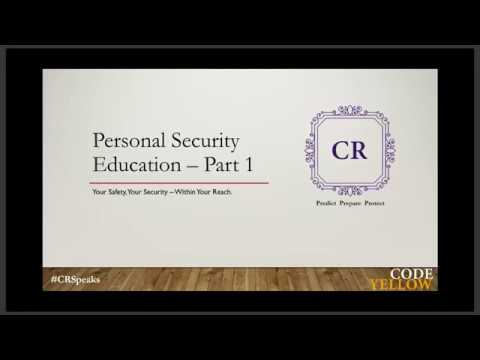 Introduction to Personal Security Education – 8 Session Series