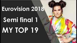 Eurovision 2018: My top 19 of semi final 1 / my qualifiers (with comments)