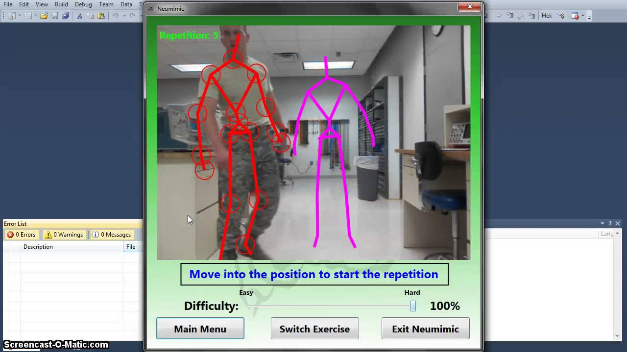 Microsoft Kinect Physical Therapy - NeuMimic Demo - YouTube