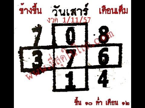 เลขเด็ดงวด 1/11/57 หวยงวด 1 พฤศจิกายน 57
