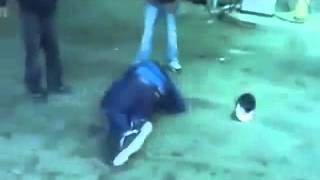 Double KnockOut at Gas Station