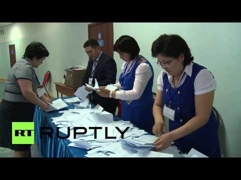Kazakhstan: Presidential election vote-count begins