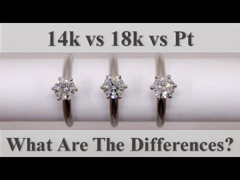 14k White Gold Vs 18k White Gold Vs Platinum Youtube