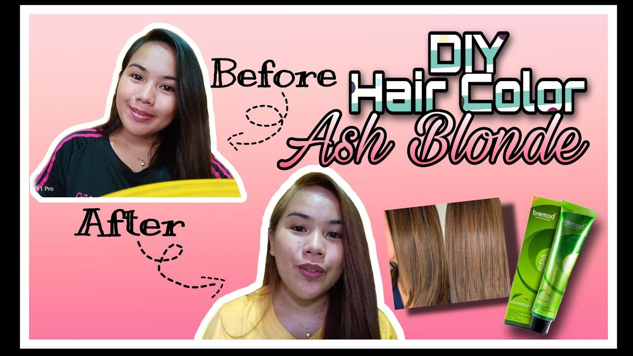 Diy Hair Color Without Bleach Ashblonde Using Bremod Carylvlogs Vlog 14 Youtube