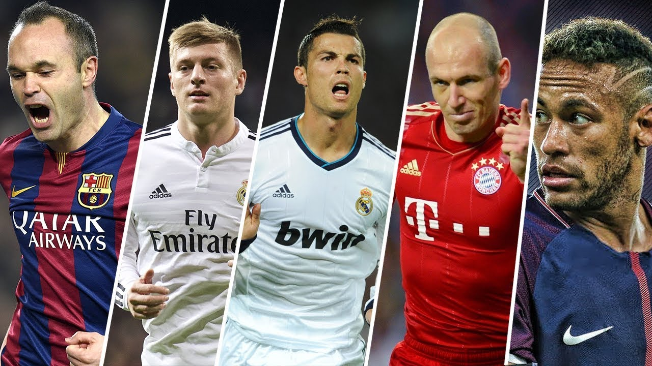 5 Dribbles Spéciaux Signés Iniesta, Kroos, Ronaldo, Robben et Neymar