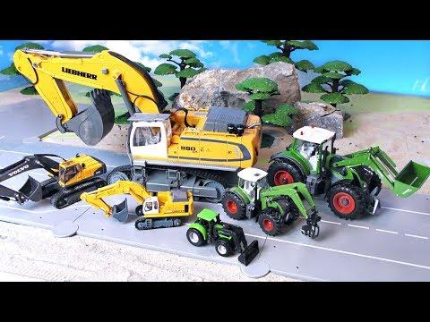 Bagger, Trecker, Rettungswagen, Müllabfuhr & Bus wachsen - Spielzeugautos - Vehicles for Kids