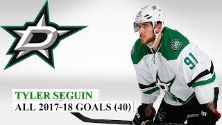 Tyler Seguin (#91) All 40 Goals of the 2017-18 NHL Season
