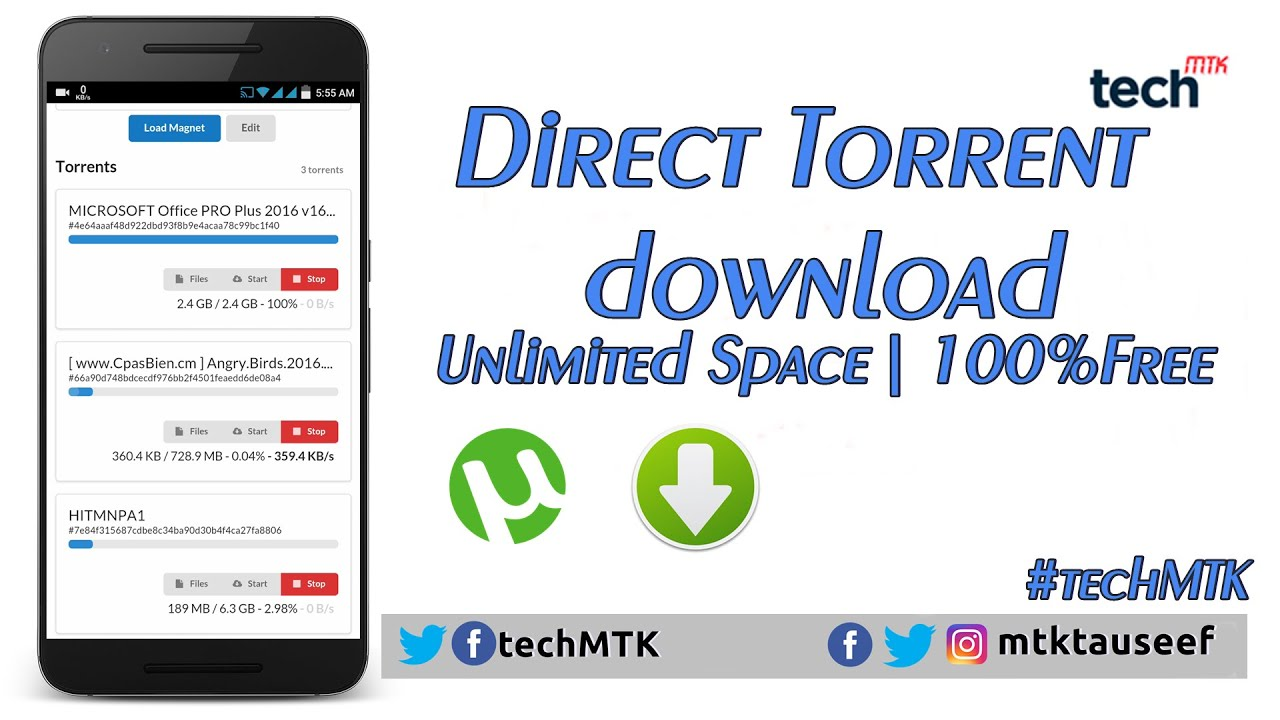convert torrent to direct download link free