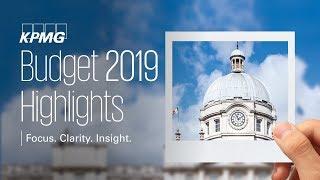 KPMG Budget 2019 Highlights