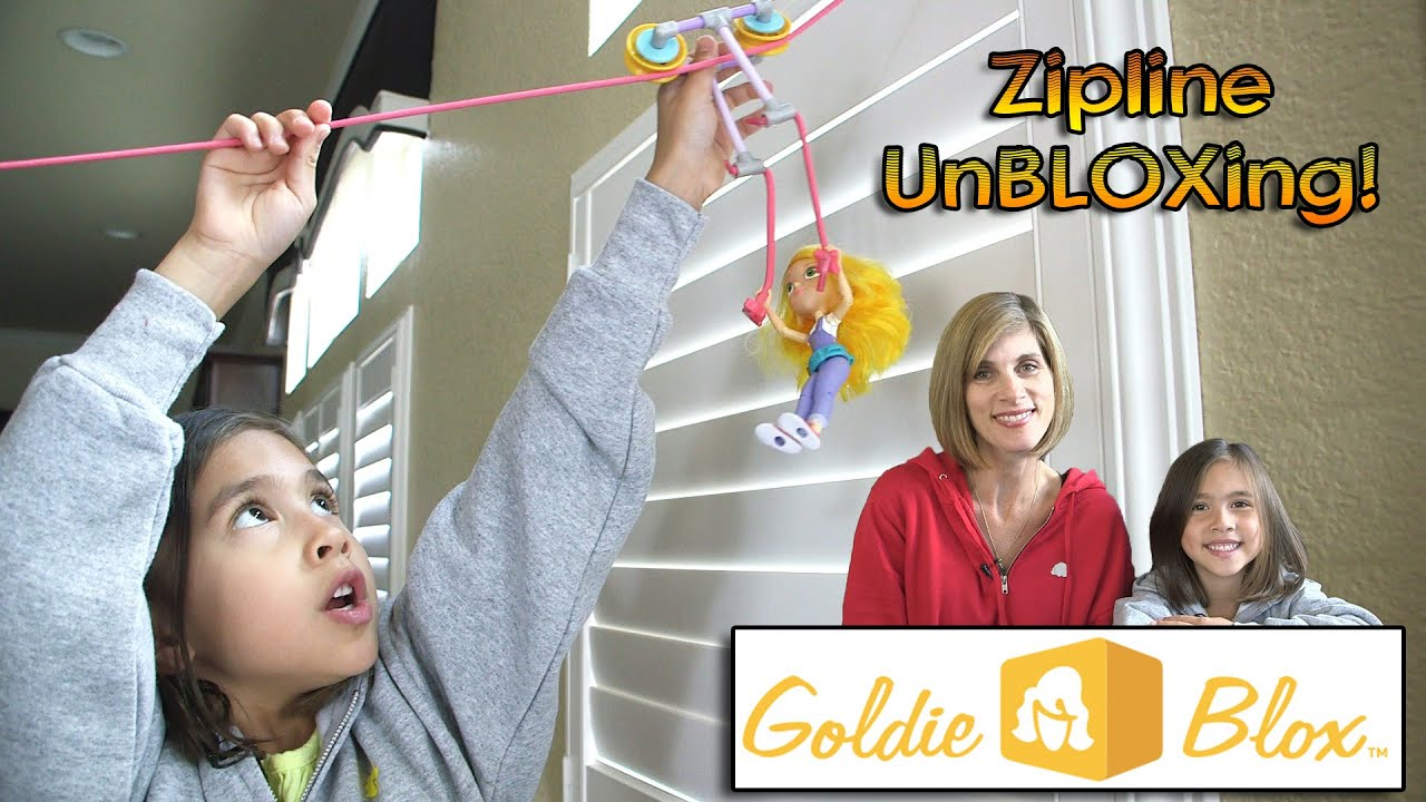 goldie blox zipline action figure unbloxing youtube