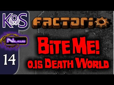 Factorio 0.15 Bite Me! Ep 14: SOLAR REVOLUTION - Death World COOP MP Gameplay, Let's Play