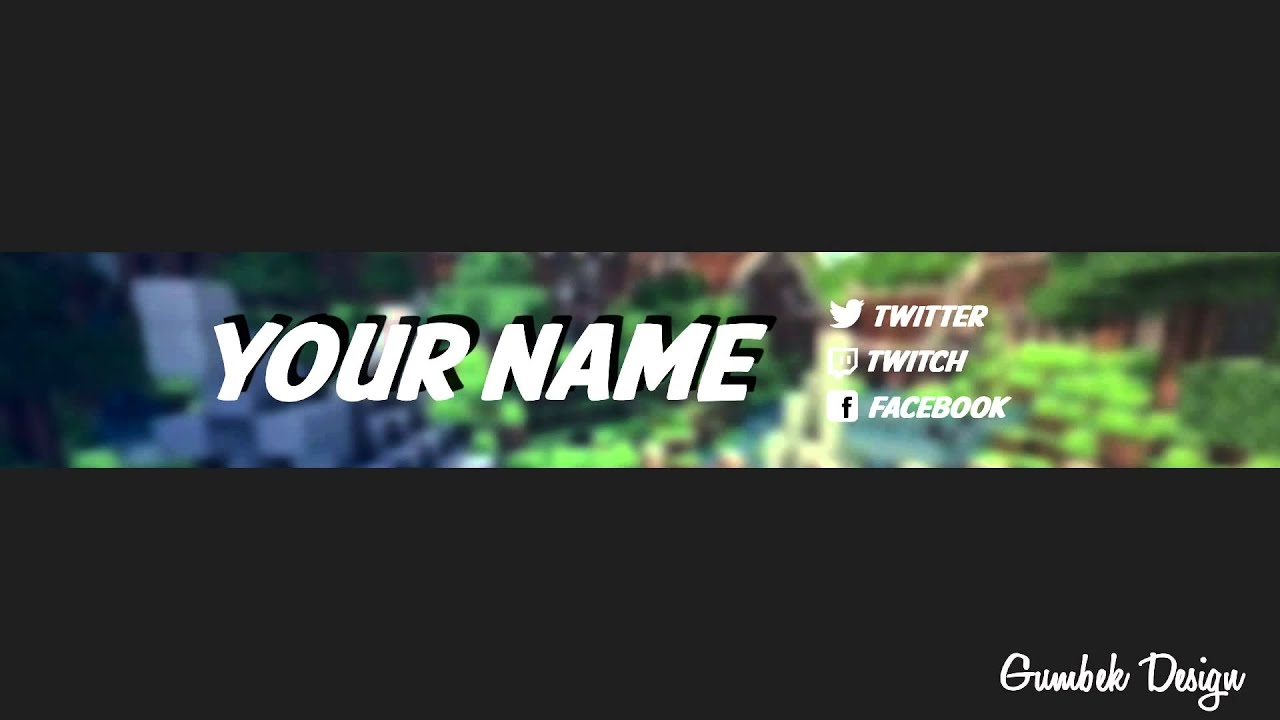 Minecraft YouTube Channel Art Template #3   Free Photoshop Download    YouTube