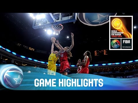 Australia v USA - Semi-Final - 2014 FIBA World Championship for Women