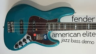The Ultimate Fender JB? -- Fender American Elite Jazz Bass demo/review