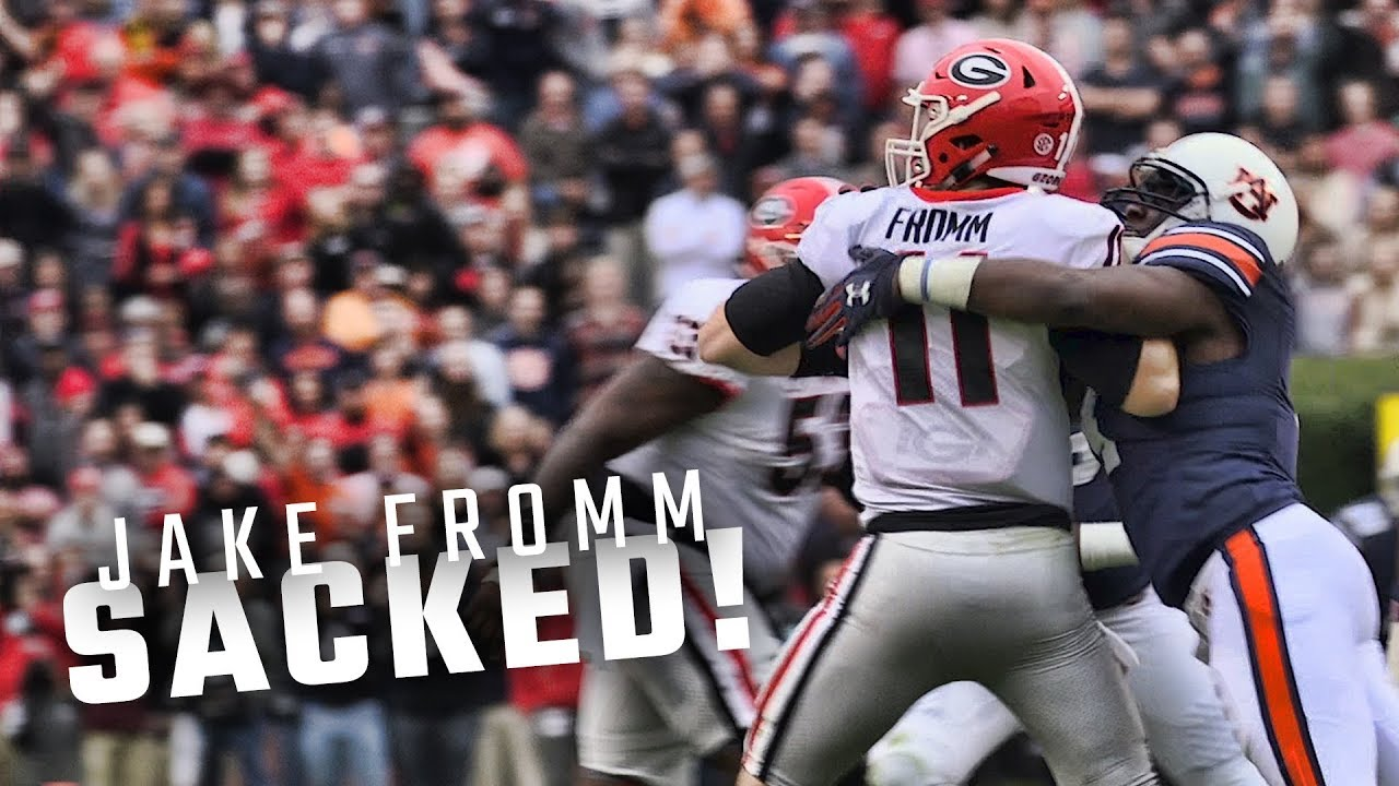 watch-as-auburn-s-defense-sacks-georgia-qb-jake-fromm-over-and-over-again