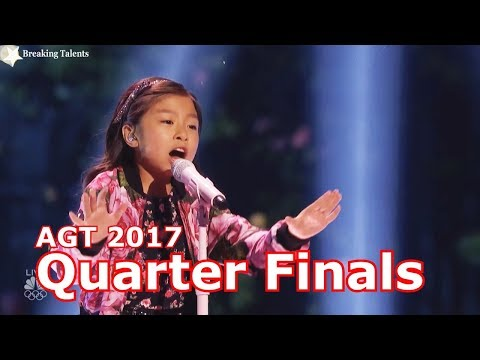 Celine Tam sings When You Believe w Judges Comments Quarter Finals America's Got Talent 2017 Live  2