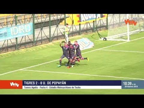 Tigres vs. Universitario de Popayán (2-0) | Torneo Aguila 2019-1 | Fecha 4