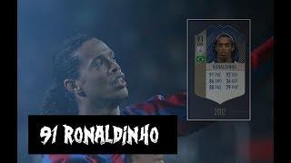 91 Icon Ronaldinho! Fut Champions Gameplay - Fifa 18 Ultimate Team
