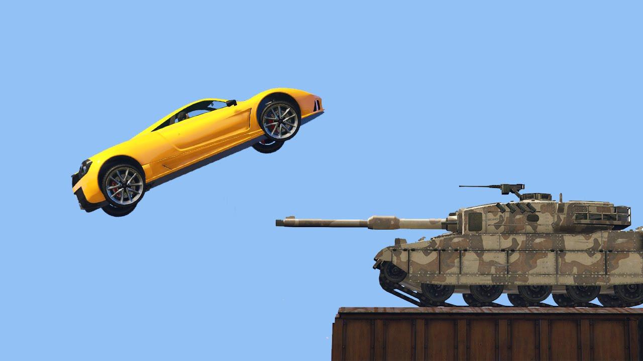 SUPER CAR vs TANK GTA 5 Funny Moments  Doovi
