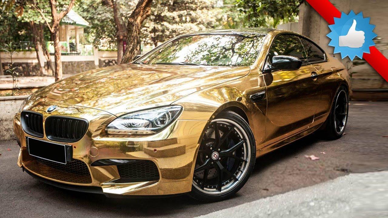 Golden Chrome BMW M6 on HRE Wheels - YouTube
