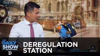 Deregulation Station - For-Profit Colleges & Trump's Liberation of Corporations | The Daily Show