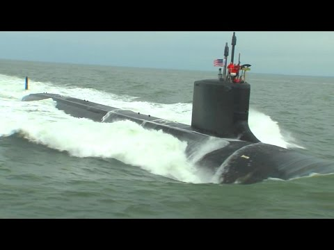 Newport News Shipbuilding - John Warner (SSN 785) Nuclear Fast Attack Submarine Sea Trials [1080p]