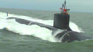Newport News Shipbuilding - John Warner (SSN 785) Nuclear Fast Attack Submarine Sea Trials [1080p]