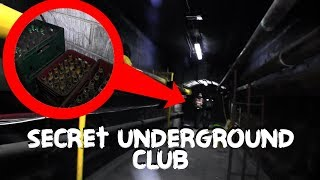 You Will Never Guess What We Found SECRET Gentlemens Club Under Train Station (UNDERGROUND CITY)