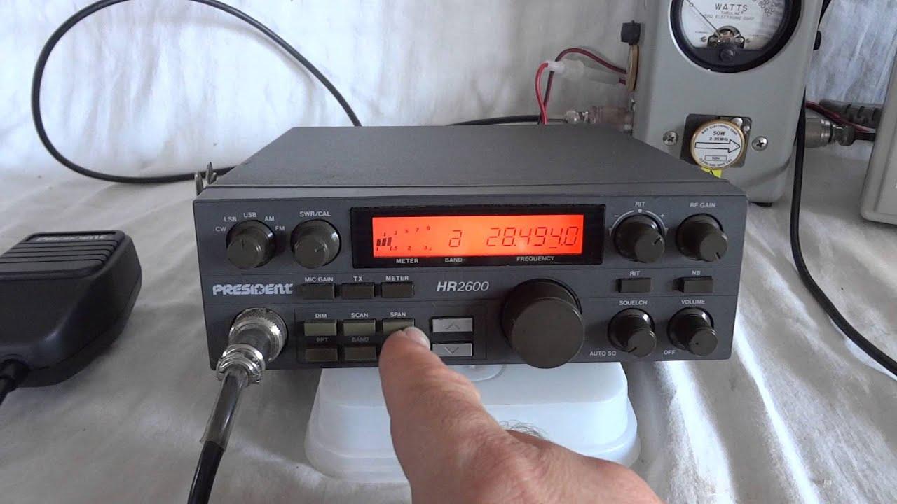 Uniden President Hr2600 10 Meter All Mode Transceiver Youtube. Uniden President Hr2600 10 Meter All Mode Transceiver. Wiring. Hr2510 Radio Cb Mic Wiring At Scoala.co