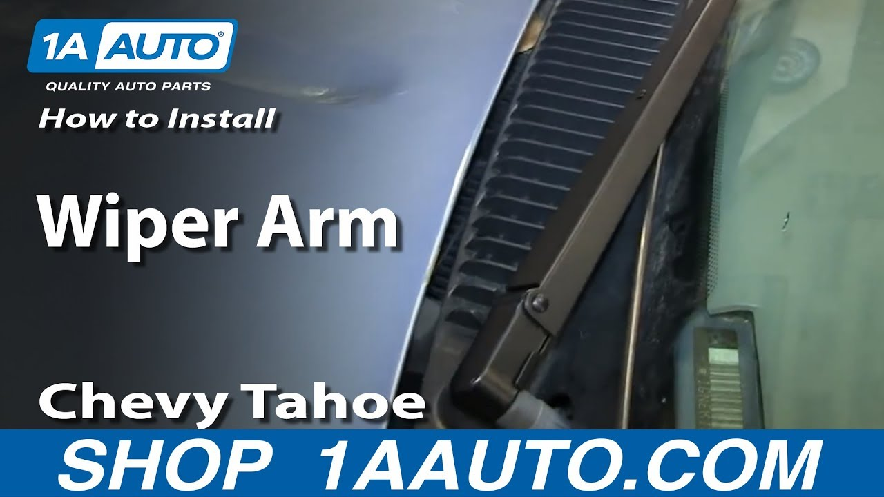 How To Install Remove Wiper Arm 1994 99 Chevy Tahoe