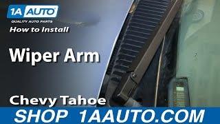 How To Install Remove Wiper Arm 1994-99 Chevy Tahoe Suburban GMC Yukon