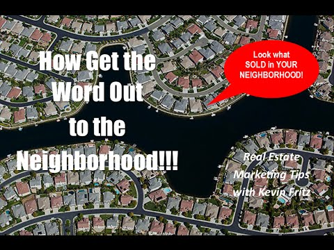 Shout it Out to The Neighborhood What You Sold!