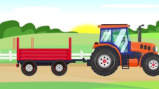 #Excavator and Orange Tractor - Carving in stone | Street Vehicles for Babies - Maszyny Budowlane
