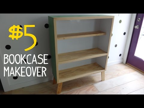 $5 Ugly Bookcase Makeover w/ Reclaimed Wood