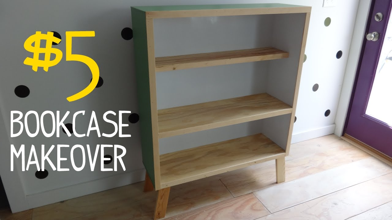 5 Ugly Bookcase Makeover W Reclaimed Wood