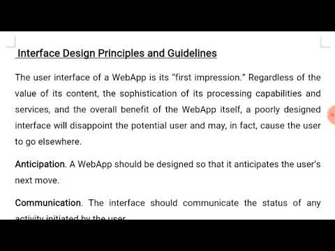 Webapp User Interface Design Principles And Guidelines Software Engineering Youtube