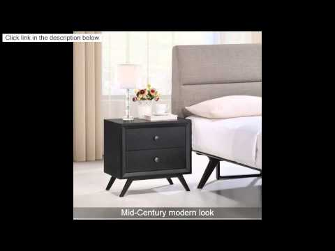 LexMod Tracy Nightstand, Black