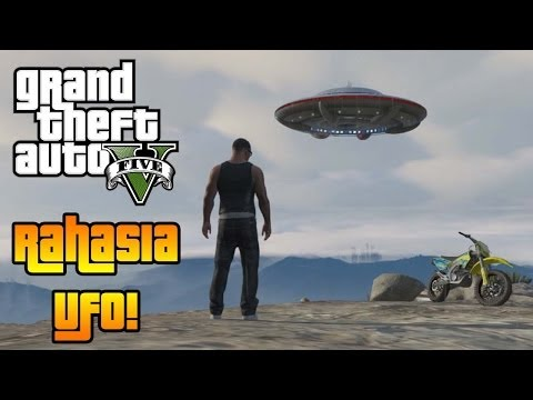 GTA 5 Bahasa Indonesia - Rahasia UFO Di GTA 5! (UFO Di Gunung Chilliad)