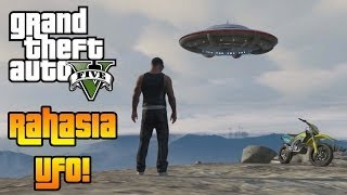 GTA 5 Bahasa Indonesia - Rahasia UFO di GTA 5! (UFO di Gunung Chilliad)