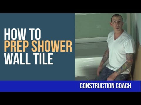 easy steps to prepare shower wall for tiles