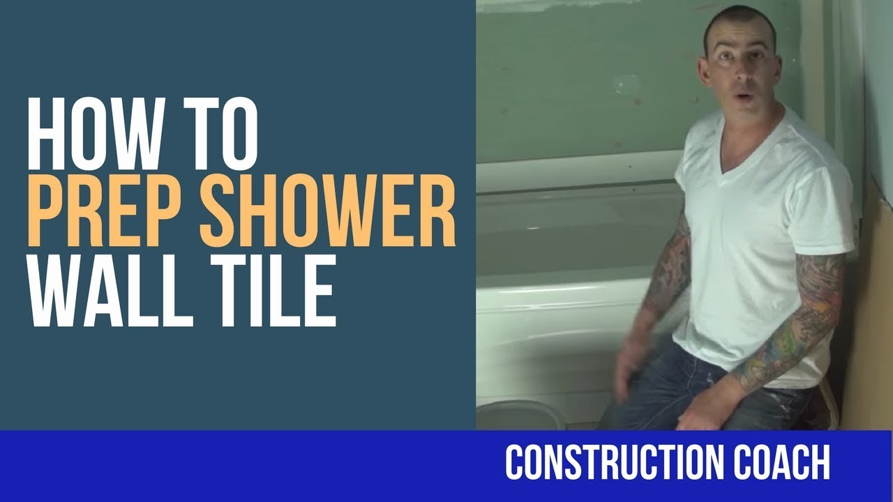 How to Prep Shower Wall Tile - DIY - YouTube