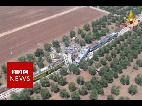Italy train crash: '12 killed' near Bari - BBC News