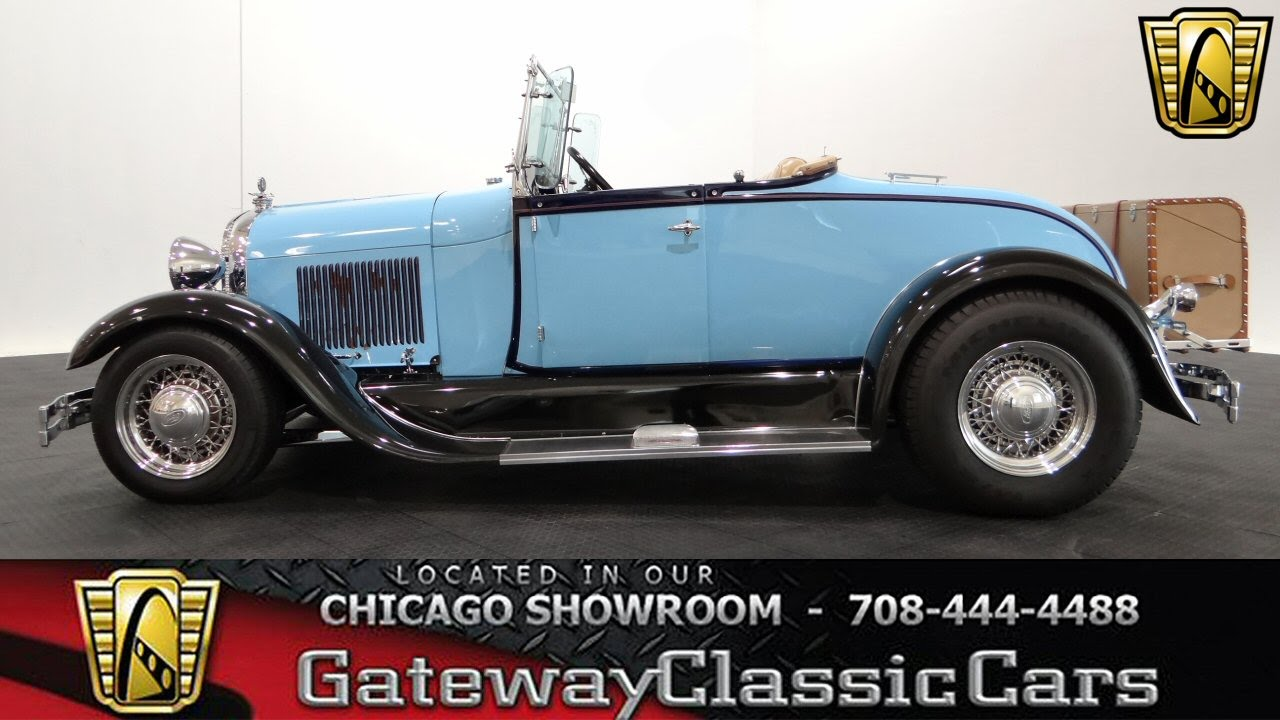 1929 Ford Model A Roadster Gateway Classic Cars Chicago #949 - YouTube