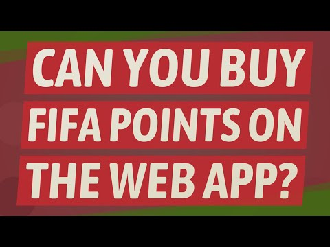 Can You Buy FIFA Points On The Web App?